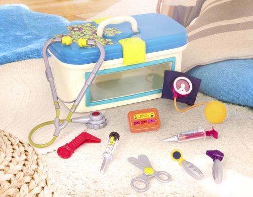 Toy doctor kit.