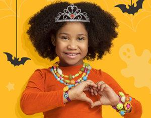 Girl with princess tiara.