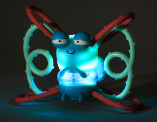 Glowing firefly teething toy.