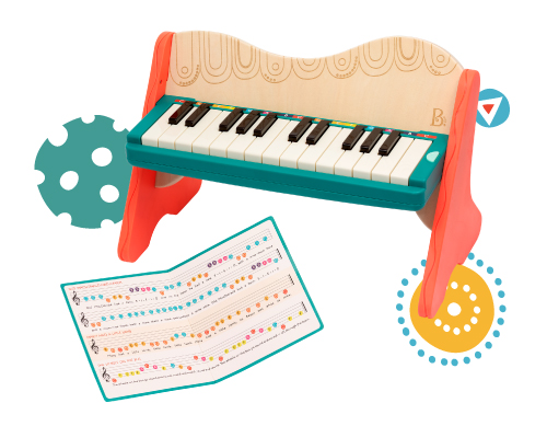 Wooden toy piano.