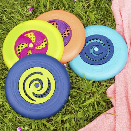 Flying discs.