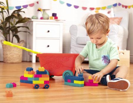 Boy with building blocks.