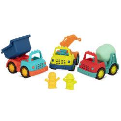 Toy trucks.