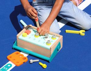 Toy tool box.