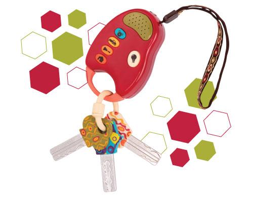 Toy car keys.