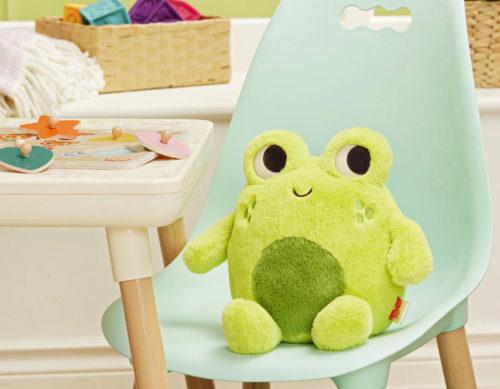 Plush frog.