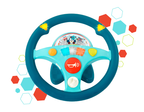 Toy steering wheel.
