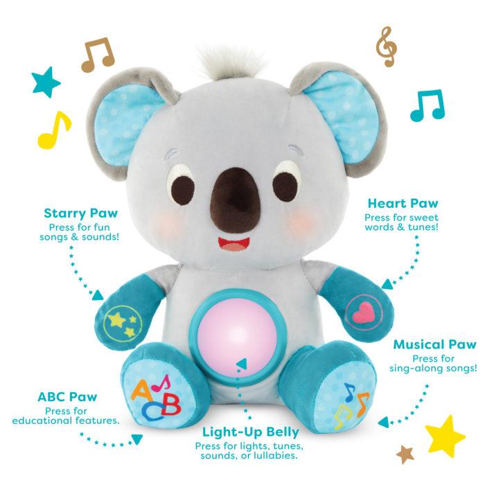 Interactive plush koala.