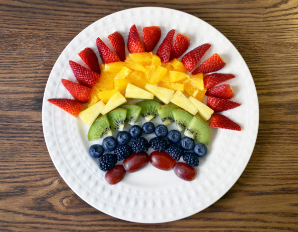 Fruit rainbow.