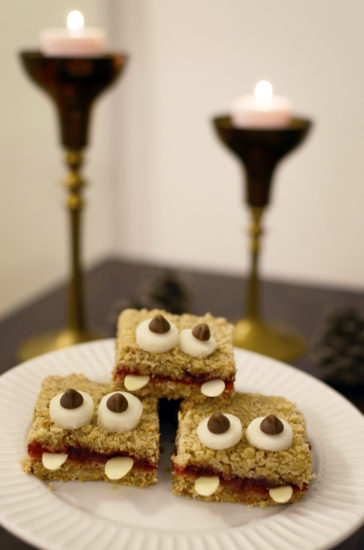 Halloween-themed dessert.