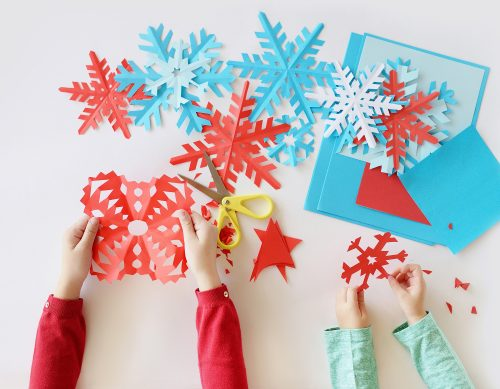 Snowflake crafts.